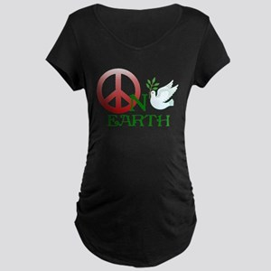 Peace on earth Maternity Dark T-Shirt