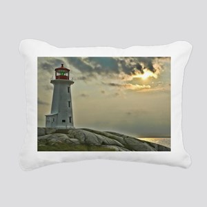 Peggy's Cove Lighhouse Rectangular Canvas Pillow