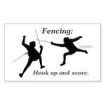 hookupandscore Sticker (Rectangle 50 pk)