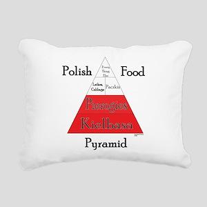 Polish Food Pyramid Rectangular Canvas Pillow