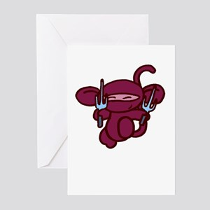 Red Sai Minky Greeting Cards (Pk of 10)