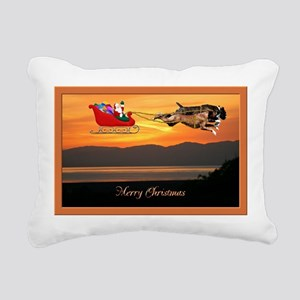 Boxer Christmas Rectangular Canvas Pillow