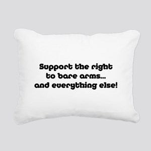 Support the Right... Rectangular Canvas Pillow