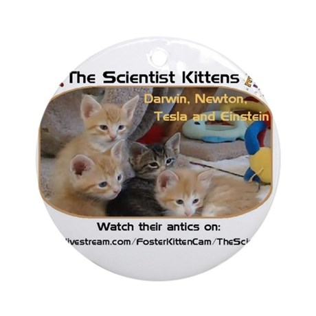 The Scientist Kittens Ornament (Round)