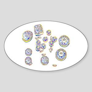 Pop Art Beads Oval Sticker
