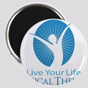 """Live Your Life Physical Therapy 2.25"""" Magnet (100"""