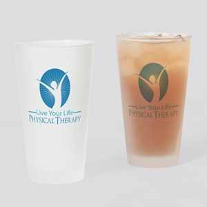 Live Your Life Physical Therapy Drinking Glass