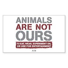 animalsarenotoursLIGHT Sticker (Rectangle 50 pk)