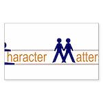 CHARACTER MATTERS Sticker (Rectangle 50 pk)