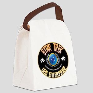 Star Trek Enterprise Canvas Lunch Bag