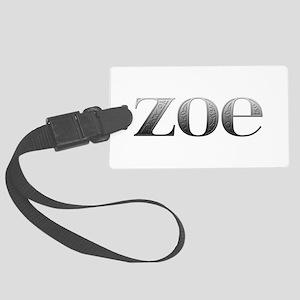 Zoe Carved Metal Large Luggage Tag