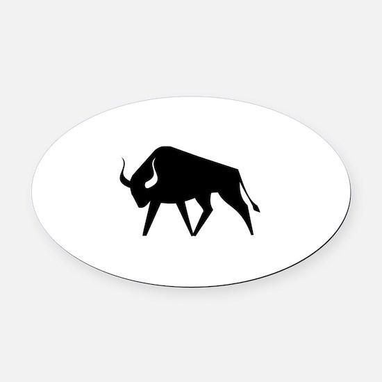 Bull Oval Car Magnet