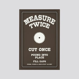 Measure Twice IV Rectangle Magnet