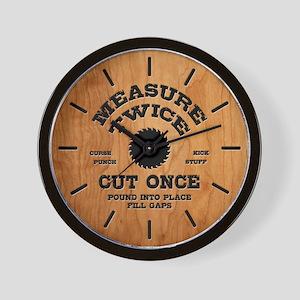 Measure Twice IV Wall Clock