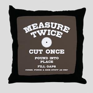 Measure Twice IV Throw Pillow