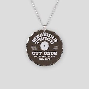 Measure Twice IV Necklace Circle Charm