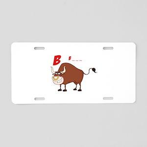 Bull Aluminum License Plate