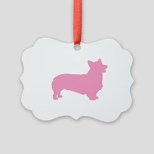 pembroke welsh corgi pink Picture Ornament