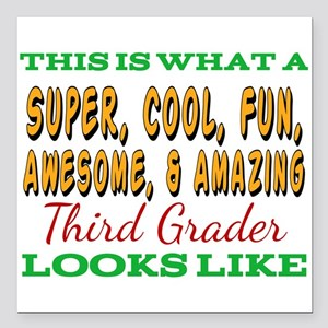 "This Is What An Awesome Square Car Magnet 3"" x 3"""