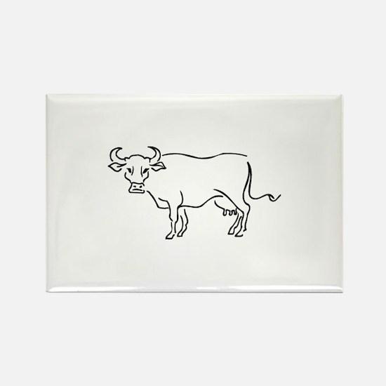 Bull Rectangle Magnet