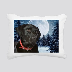 2010 Black Lab Rectangular Canvas Pillow