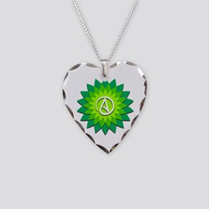 Atheist Flower Necklace Heart Charm