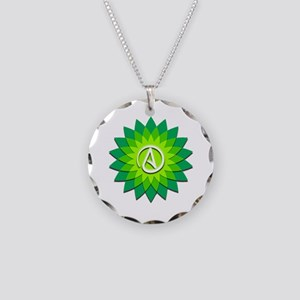 Atheist Flower Necklace Circle Charm