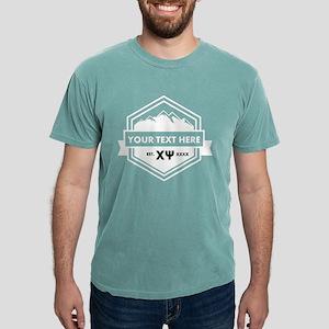 Chi Psi Mountain Ribbon Mens Comfort Colors Shirt