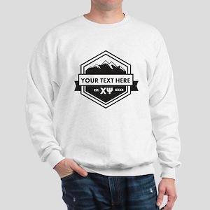 Chi Psi Mountain Ribbon Personalized Sweatshirt