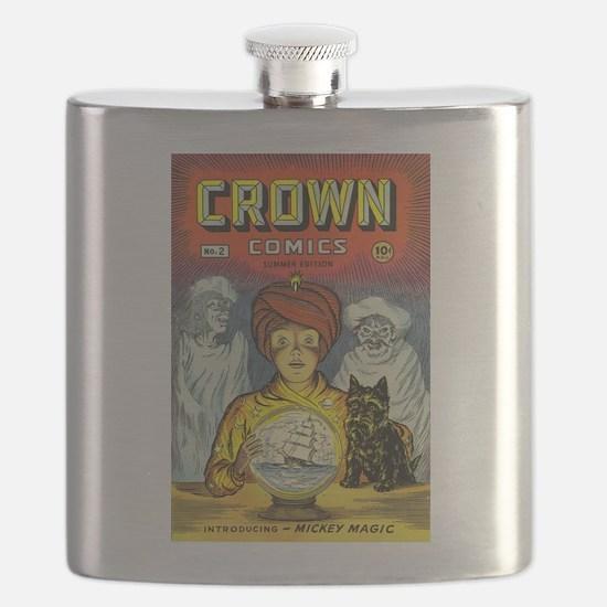 Crown Comics #2 Flask