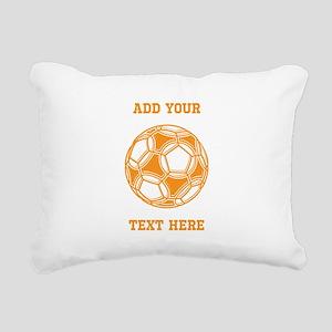 Soccer Ball. Orange with Text Rectangular Canvas P