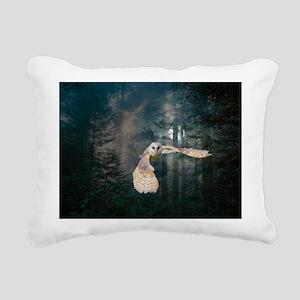 Owl at Midnight Rectangular Canvas Pillow