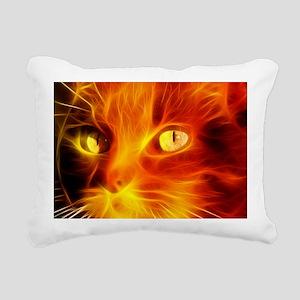 Fiery Cat Rectangular Canvas Pillow