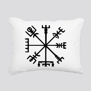 Viking Compass : Vegvisir Rectangular Canvas Pillo