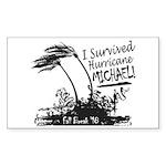 I Survived Hurricane Mic Sticker (Rectangle 50 pk)