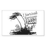 I Survived Hurricane Bar Sticker (Rectangle 50 pk)