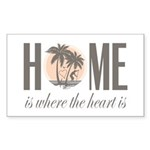 Home is where the heart  Sticker (Rectangle 50 pk)