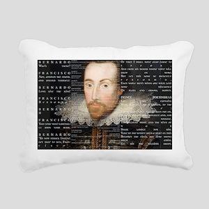 Shakespeare, Text of Hamlet, Rectangular Canvas Pi