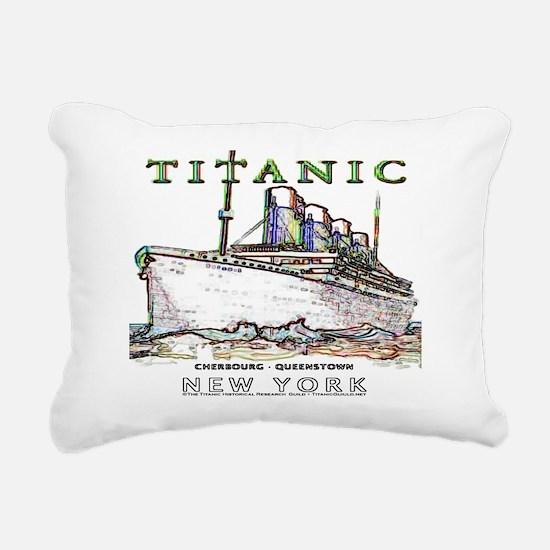 Unique Titanic neon Rectangular Canvas Pillow