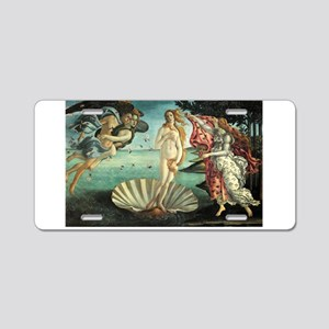 Birth of Venus by Botticelli Aluminum License Plat