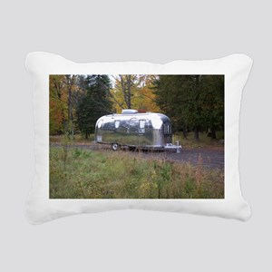 Vintage Camper In Autumn Rectangular Canvas Pillow