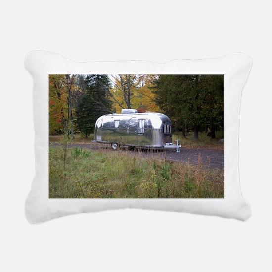 Vintage Camper In Autumn Rectangular Canvas Pillow