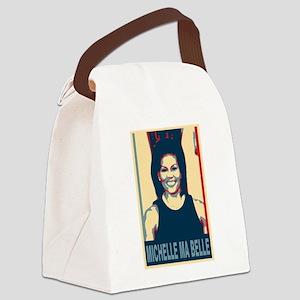 FLOTUS Michelle Obama Pop Art Canvas Lunch Bag