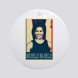 FLOTUS Michelle Obama Pop Art Ornament (Round)