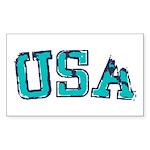 USA Sticker (Rectangle 50 pk)