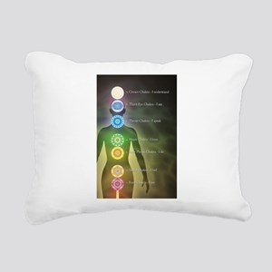 Chakra Energy Centers Rectangular Canvas Pillow