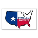 Problem Solved Flag Sticker (Rectangle 50 pk)