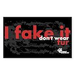 fake-it-stickers-03 Sticker (Rectangle 50 pk)