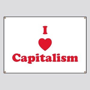 I Heart Capitalism - Red Banner