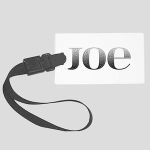 Joe Carved Metal Large Luggage Tag